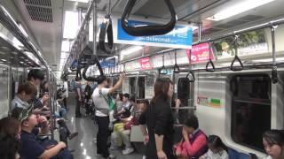 大邱都市鉄道1号線 車内の様子(半月堂→中央路)