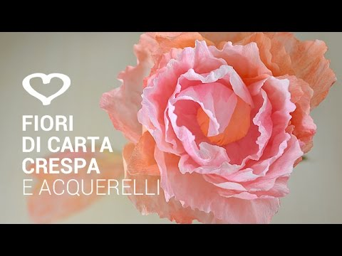 Youtube Fiori Di Carta.Small Crepe Paper Flowers Flower Making Of Crepe Paper Paper