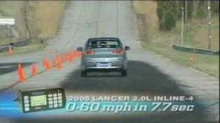Motorweek Video of the 2008 Mitsubishi Lancer