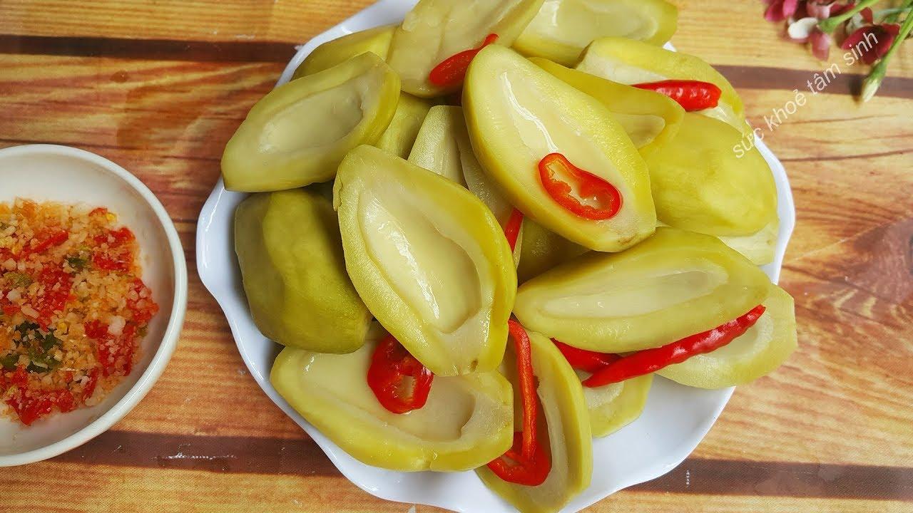 Cách làm Xoài ngâm chua ngọt vàng giòn tự nhiên không hoá chất
