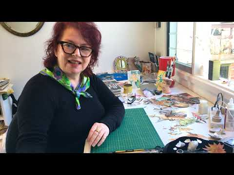How To Make A Collage Portrait With Deborah Kelly | #TogetherInArt Making