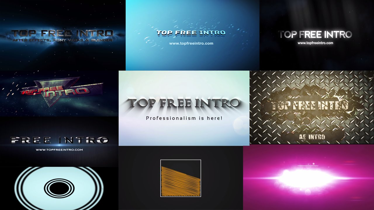 intro after effect template free download