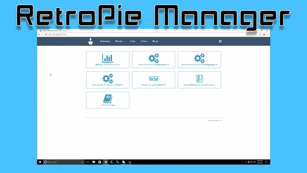 How To Enable Browser Based RetroPie Manager Raspberry Pi