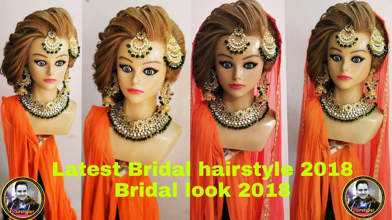 bridal hairstyle 2018/ latest indian bridal hairstyle hair