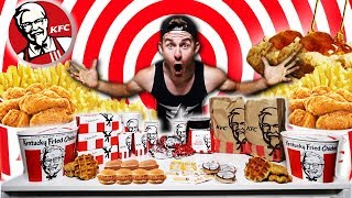 THE $100 KFC MENU CHALLENGE! (12,000+ CALORIES)