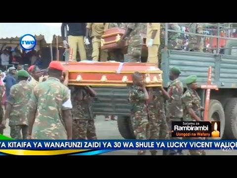 Kuagwa kwa miili ya watoto na walimu wa shule Lucy Vicent Arusha Part 01