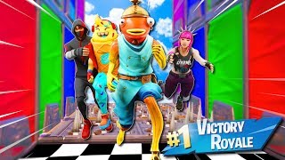 The BEST 4 Person Deathrun Race Challenge!  (Fortnite Creative Mode)