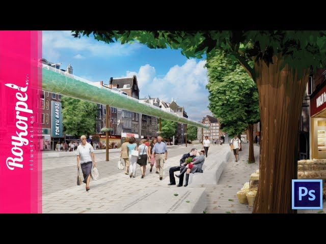 Client work: Amsterdam Rokin - Photoshop speedart - time-lapse