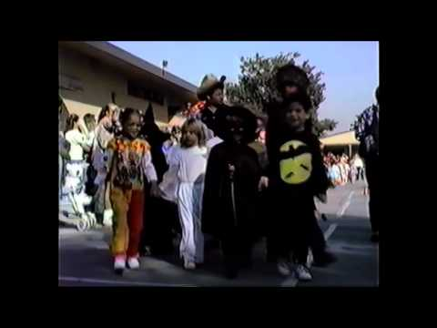 halloween parade at Esther Lindstrom Elementary School 1991