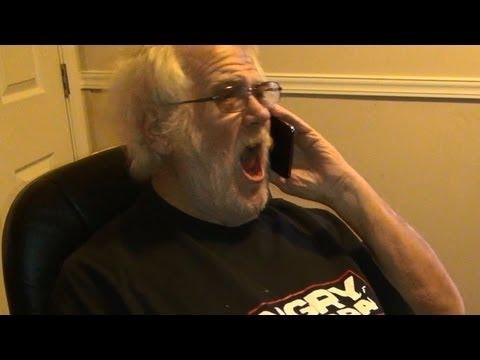 Angry Grandpa Calls Dish Network!