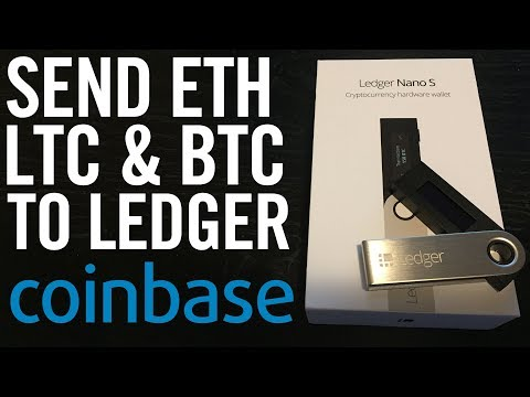 SEND BITCOIN, LITECOIN & ETHEREUM FROM COINBASE TO LEDGER NANO S (Hardware Wallet)
