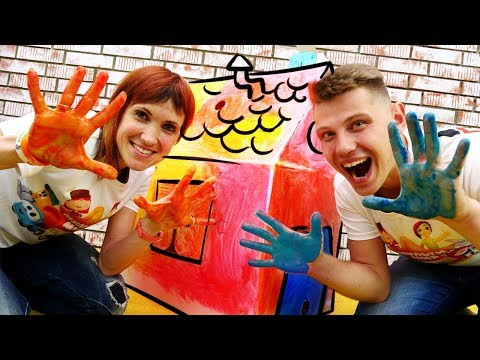 Веселая Школа с Машей Капуки Кануки - Видео для детей - Строим домик для котенка