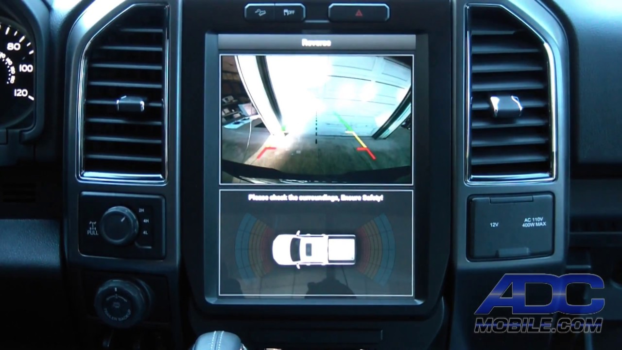 "2018 Ford F150 Interior >> Linkswell 12"" T-Style Radio for Ford F-Series: Camera Operation - YouTube"