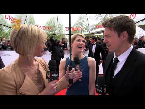 Jodie Whittaker & Andrew Buchan  Television Awards Red Carpet in 2013