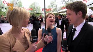 Jodie Whittaker & Andrew Buchan - Television Awards Red Carpet in 2013
