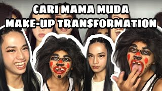 MAMA MUDA MAKE UP TRANSFORMATION with My Brother    raque jay