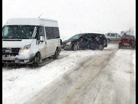 Первый снег в Красноярском крае.