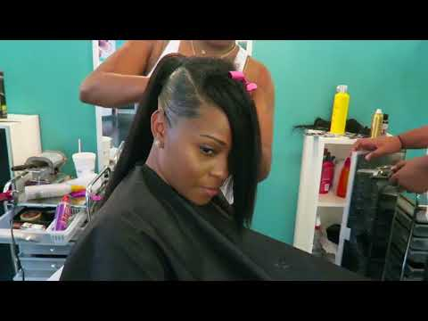 Tutorial: Invisible Sleek Swoop Ponytail On Natural Hair
