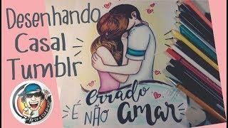 Desenhando CASAL Estilo Tumblr - 2  #ArteECiaBrasil