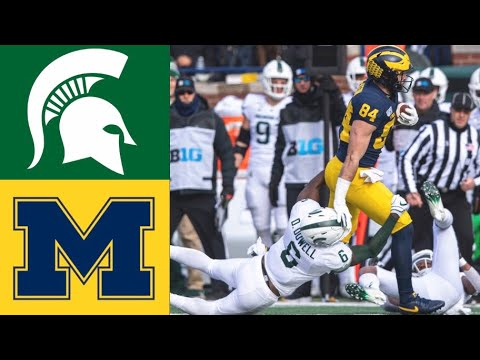 Michigan State vs #15 Michigan Highlights | NCAAF Week 12 |