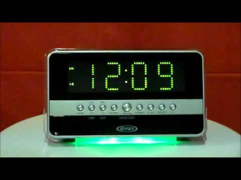 jensen jcr 275 am fm dual alarm clock radio with wave. Black Bedroom Furniture Sets. Home Design Ideas