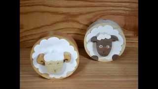 Swaying Round Sheep (scroll Saw) 糸鋸ちょいデブゆらゆら丸ひつじ