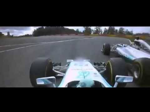 F1 2014 Spa Rosberg Crash with Hamilton