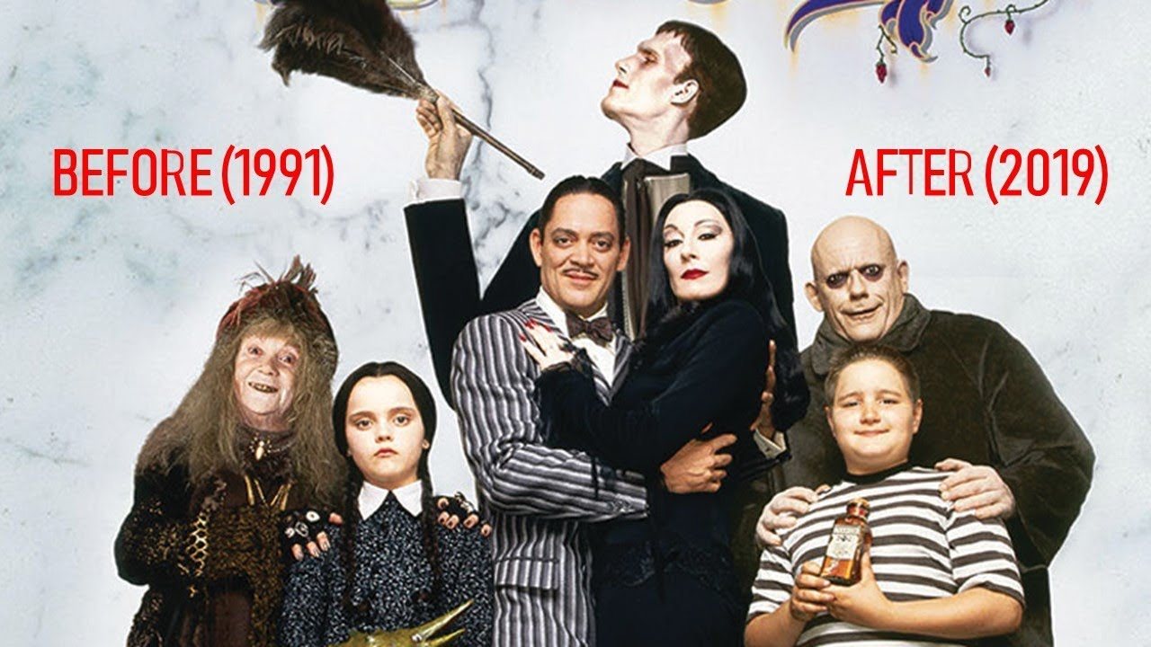 The Addams Family Then And Now 1991 2019 Youtube
