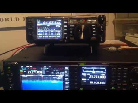 Yaesu FT-991 and Kenwood TS990 listening Saint Lucia in 21 Mhz - IW2NOY