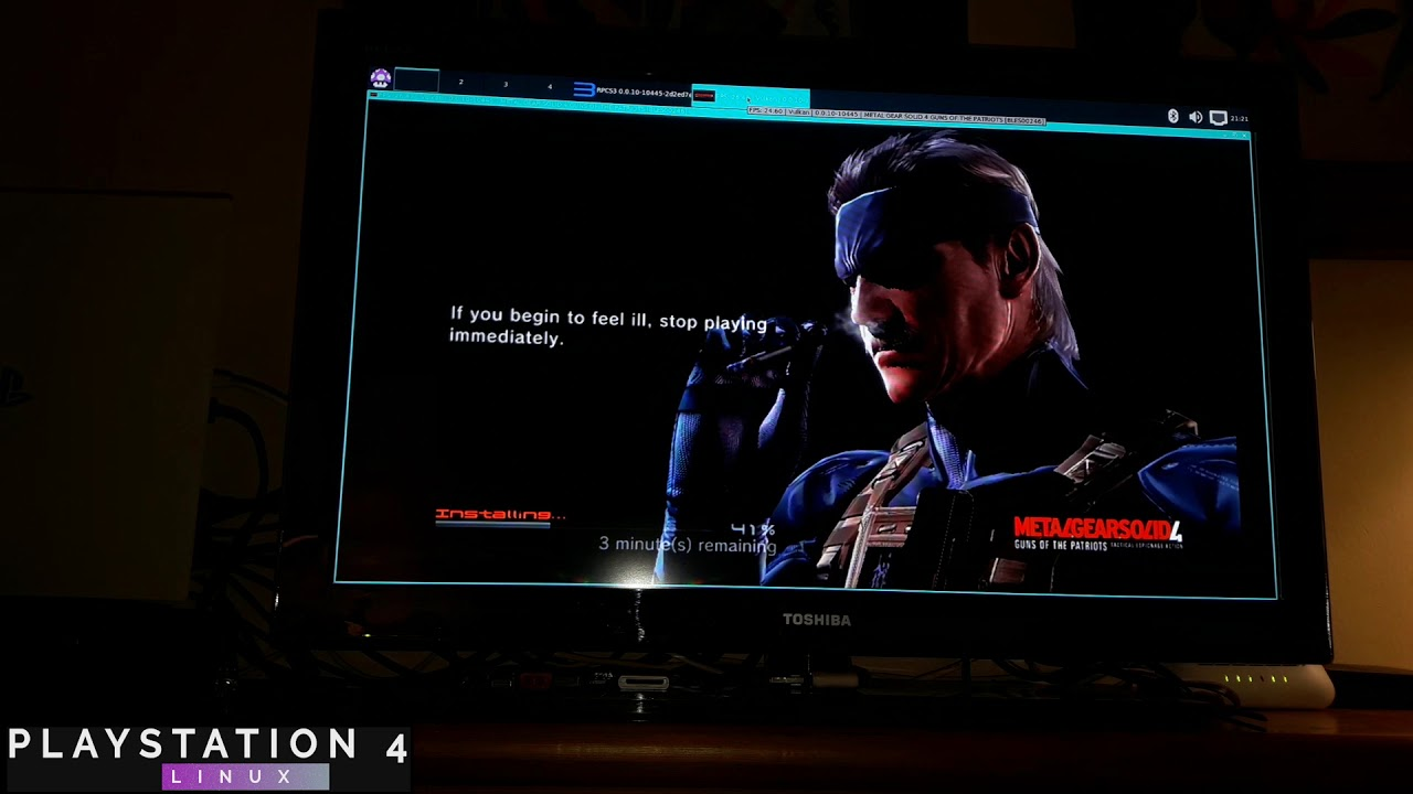 METAL GEAR SOLID 4 on PS4 PRO 5.05 | Psxitarch Linux v2 | INSTALLATION DISC RPCS3