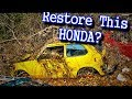 Complete Honda Civic Restoration - Part 3 - Getting Ready To Strip It To BARE METAL