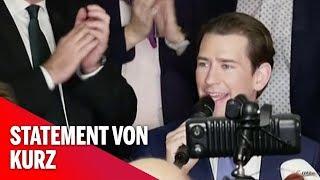 Steiermark-Wahl: Sebastian Kurz gibt Statement ab