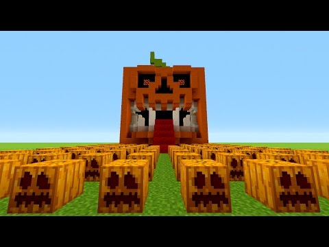 Minecraft How To Make Scary Pumpkin House
