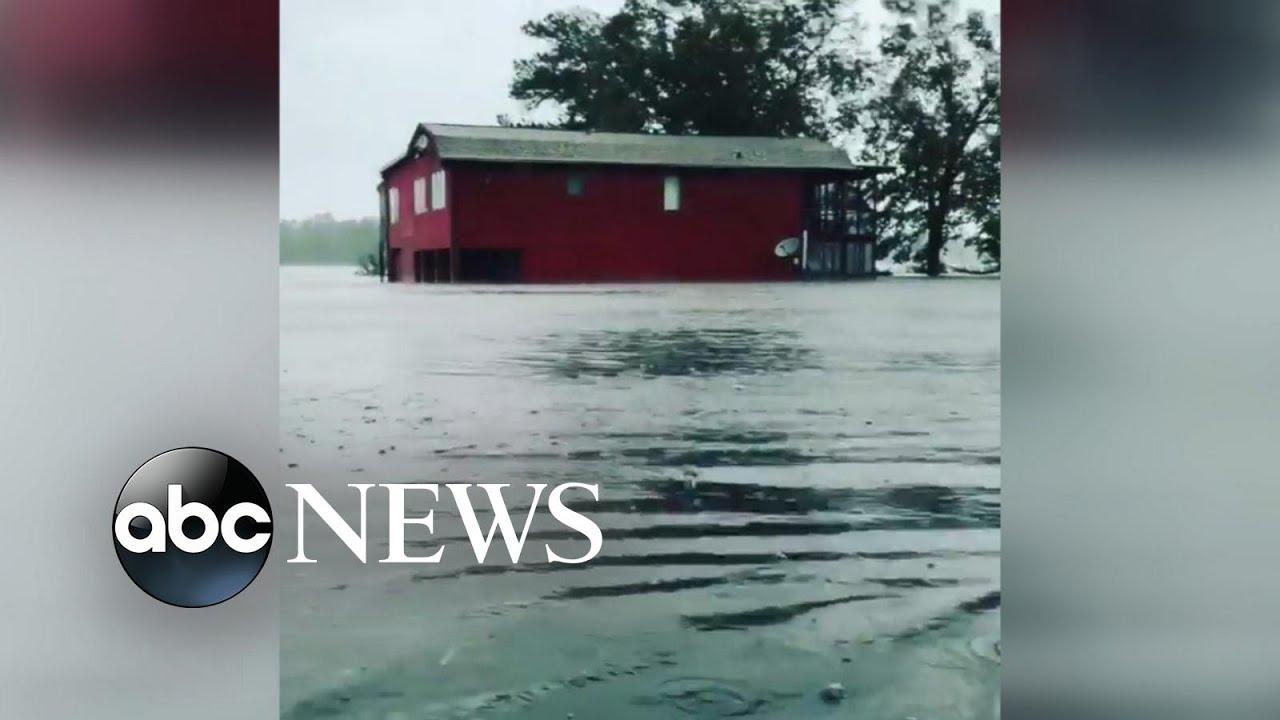 Hurricane Florence Causes Waist Deep Flooding In North Carolina