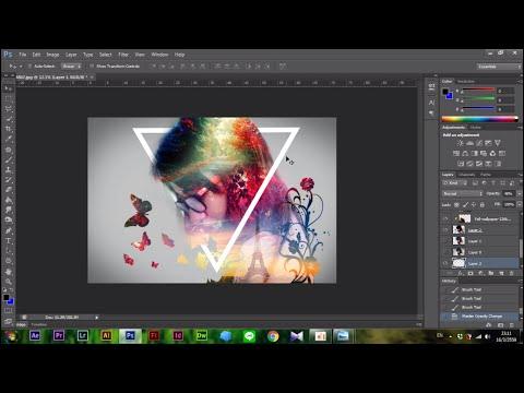 Adobe Photoshop - วิธีการแต่งภาพสไตล์ Double exposure ภาพซ้อนภาพง่ายๆ แบบมีสไตล์ไม่เหมือนใคร