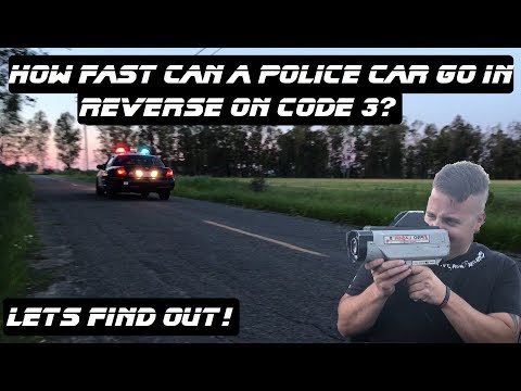 How Fast Can A Police Car Go In Reverse On Code 3? Ford Crown Victoria