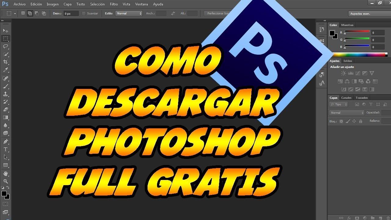 descargar gratis adobe photoshop en español