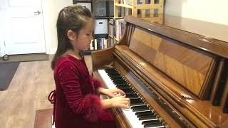 "Kaitlyn Schwaller (Age 6) Playing ""Wild Rider"" on the Piano"