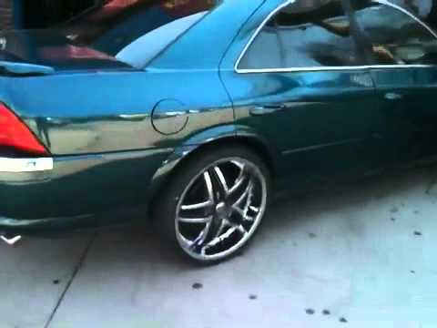 "Lincoln ls on 22"" rims - YouTube"