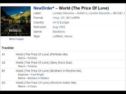 New Order - World (The Price Of Love) Brothers in Rhythm Mix
