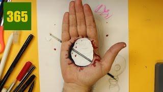 truc incroyable - Comment faire un faux trou dans la main - effet optique