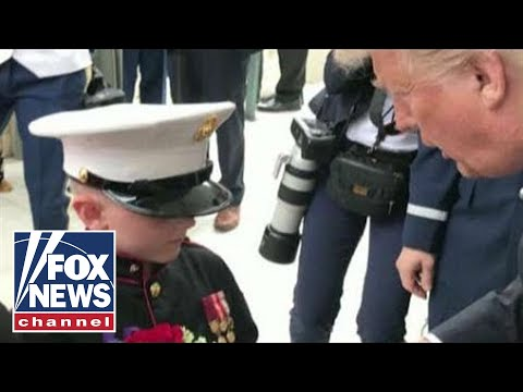 Trump honors 7-year-old son of fallen Marine