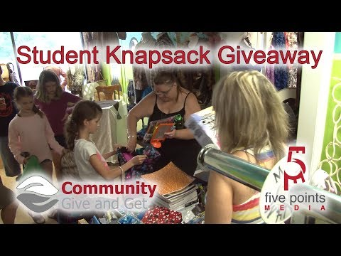 Community Give and Get - Knapsack Giveaway