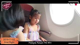 [2019-11-02] Anne Jo & Anne Na first flight to Langkawi via Malaysia Airlines MH1437