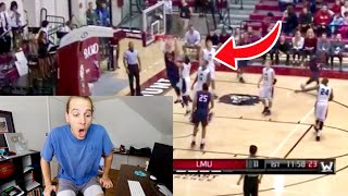 HE DUNKED ON EVERYONE! Reacting To My Subscribers Basketball Highlights (Part 1)