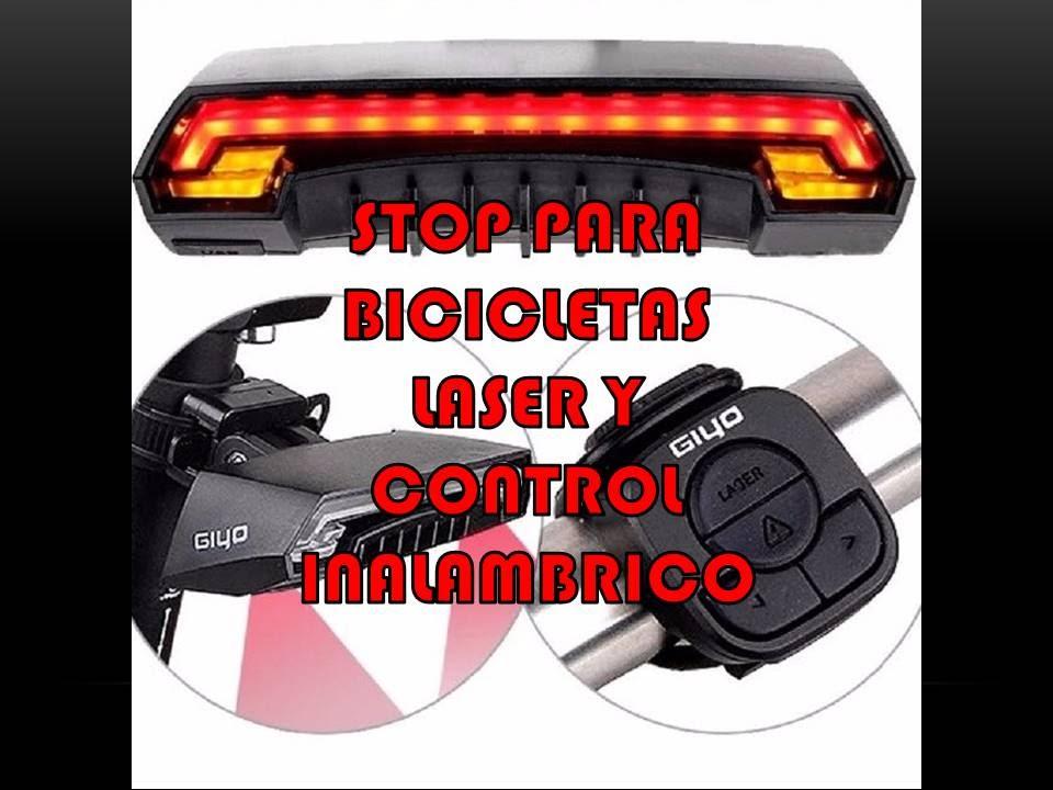 ec372573c STOP LASER INALAMBRICO PARA BICICLETA CON DIRECCIONALES MARCA GIYO REVIEW  EN ESPAÑOL LATINO