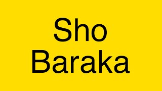 Sho Baraka ft. Ali - Ali (lyrics)