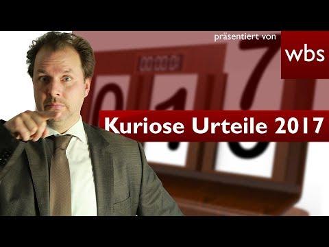 Duschen im Stehen verboten? - Die 5 kuriosesten Urteile 2017 | Rechtsanwalt Christian Solmecke