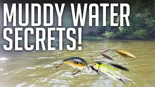 MUDDY WATER SECRETS! || Bass Fishing Tips & Lures For Muddy/Stained Water! Video