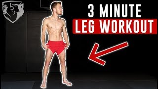 3 Minute Leg Workout for Fight Endurance